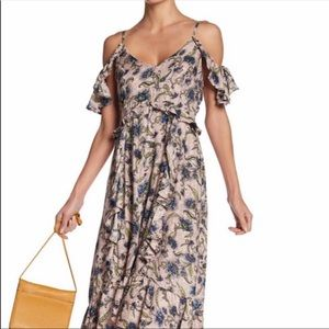 Jessica Simpson cold shoulder high low dress NEW